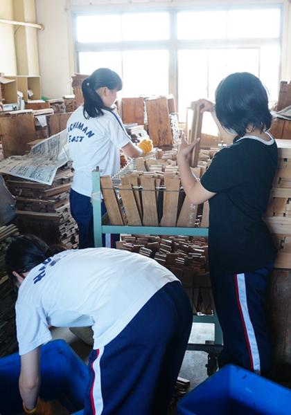 職場体験学習(八幡東中学校)