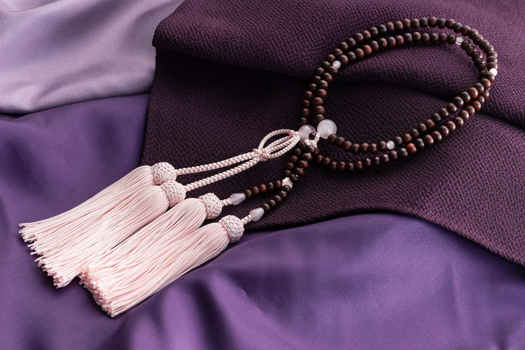 紫檀 ローズクォーツ仕立(女性用)