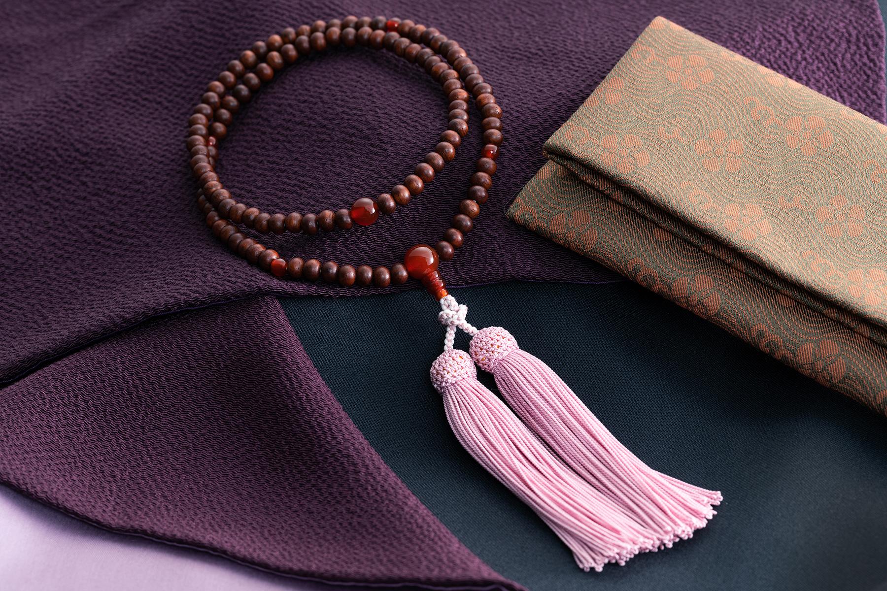 紫檀 赤瑪瑙仕立(女性用)