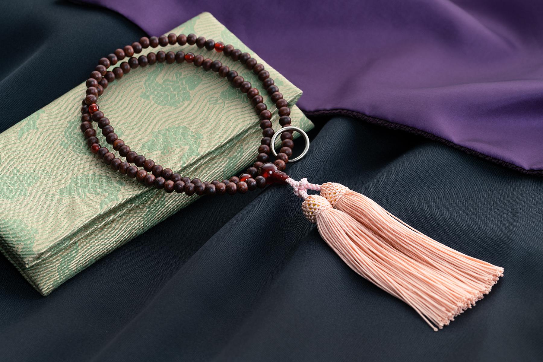 紫檀 赤メノウ仕立(女性用)